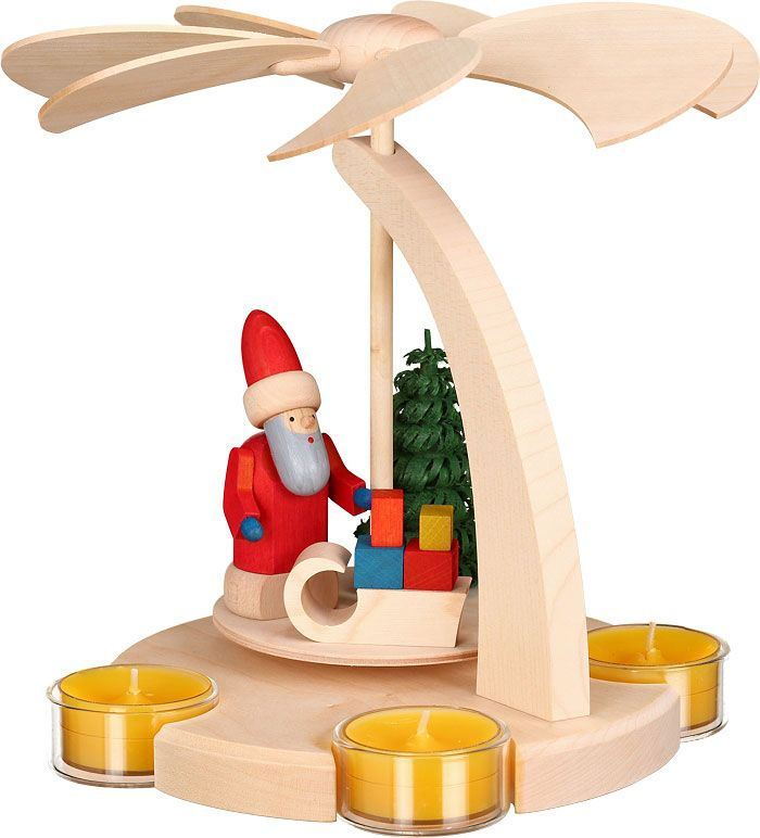 1-tier pyramid - Santa with sled - 18 cm / 7 inches $51.00 plus shipping
