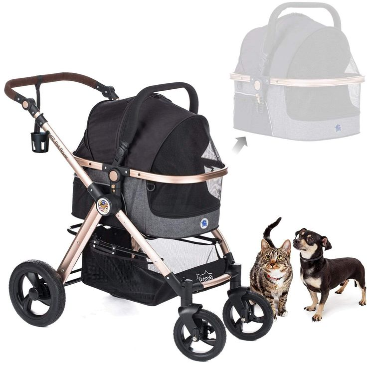 Hpz Pet Rover Prime 3 In 1 Luxury Dog Cat Pet Stroller Best Suggestion Petsep Com Pet Stroller Dog Stroller Luxury Dog