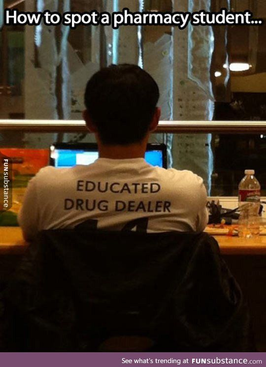 Pharmacy student spotted