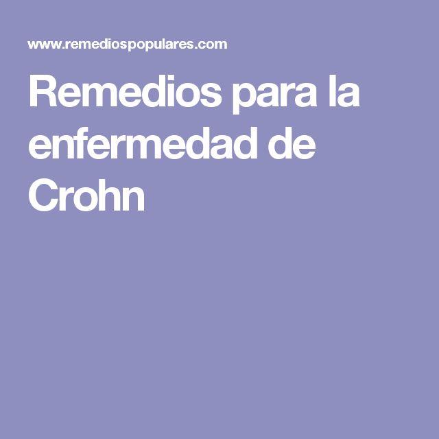 Remedios para la enfermedad de Crohn