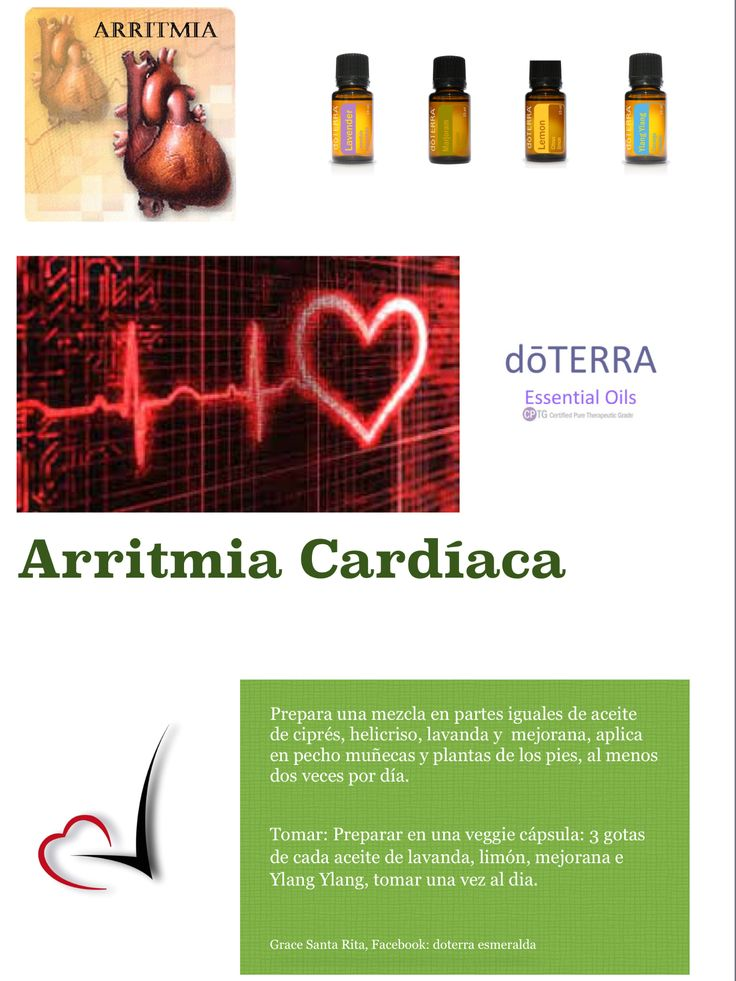 Arritmia cardiaca y aceites dōterra