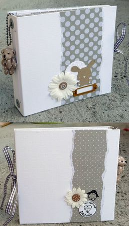 Un superbej mini de naissance fait avec le tuto de SCRAPUCINE (http://scrapucine.over-blog.fr/article-mini-album-home-deco-et-son-tuto-103916161.html) !!