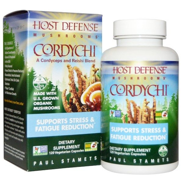 Fungi Perfecti, Host Defense, Cordychi, 120 Veggie Caps  #stress #formula #support #balance #management #iherb #thingstobuy #shopping #relief