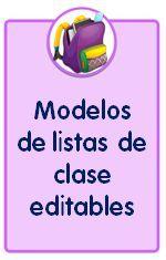 Modelos de listas de clase para descargar