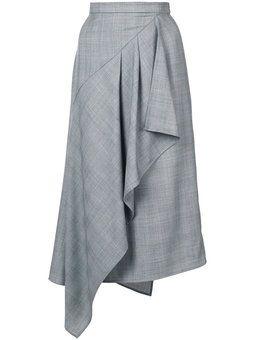 jupe midi à design drapé