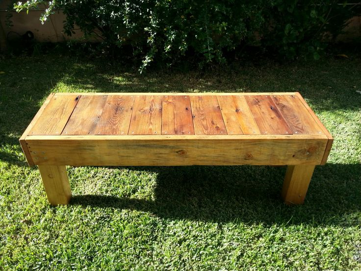 I made this bench with reclaimed wood. The top boards came from the floor of a local church.