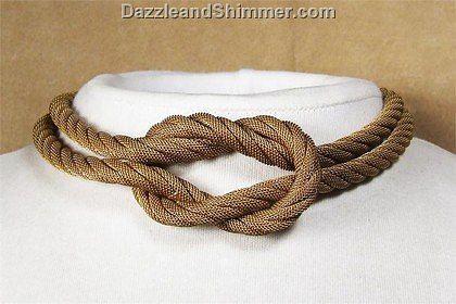 Beautiful square knot jewelry.