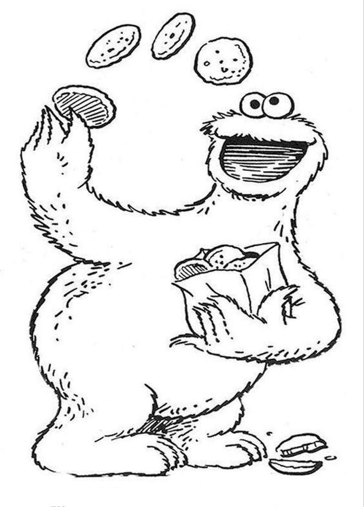 sesame street coloring pages bing images