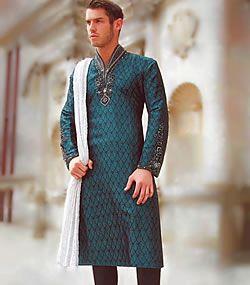 hand embroidered kurta, silk embroidered kurta, kurta sherwani, designer kurta, mens kurta