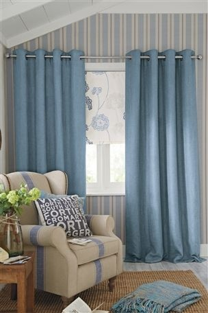 Buy Harrison Blue Eyelet Curtains from the Next UK online shop