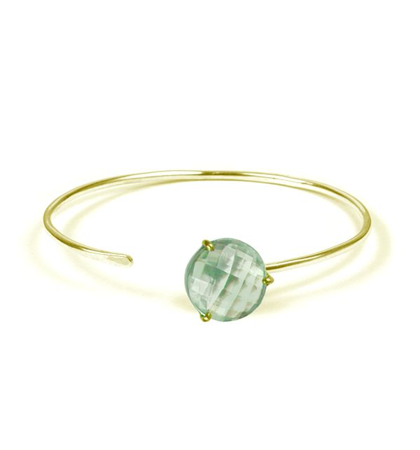 Vermeil Green Amethyst Bangle