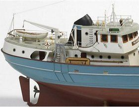The Billing Boats 1/50 Nordkap Fishing Trawler wooden ship model measures 81cm long, 43cm high and 19cm wide. This wooden boat kit is highly realistic w...