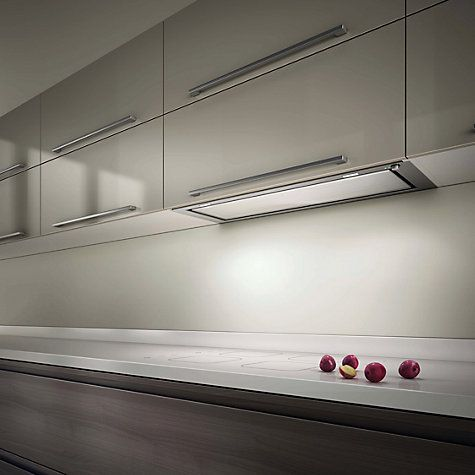 Buy Elica Hidden 60 Built-In Cooker Hood, Stainless Steel/ White Glass Online at johnlewis.com