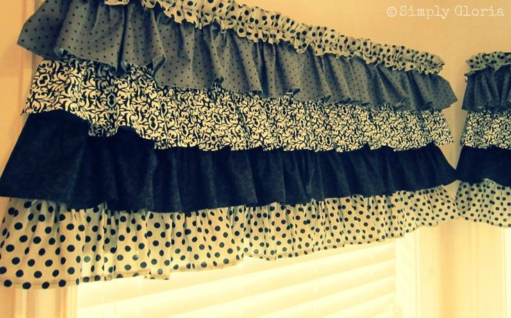 how to sew ruffled kitchen curtains crafts pinterest window kitchens and easy. Black Bedroom Furniture Sets. Home Design Ideas