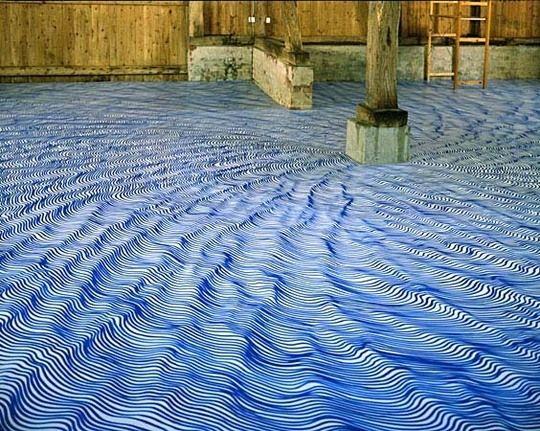 sharpie marker floor by artist Heike Weber
