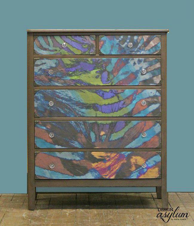 Creative Ways To Use Peel And Stick Wallpaper Design Asylum Blog By Kellie Smith Decoupage Dresser Decoupage Furniture Peel And Stick Wallpaper
