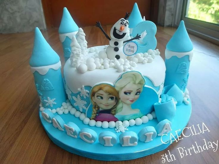 Frozen disney cake by Delines Cake