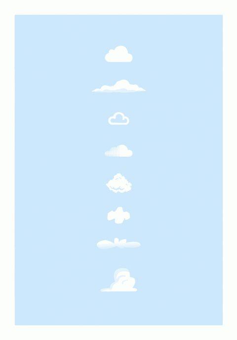 swissmiss | Famous Clouds      Designed by Tina Roth Eisenberg (swiss-miss.com) and built by John Ford (aldenta.com), swiss-miss.com