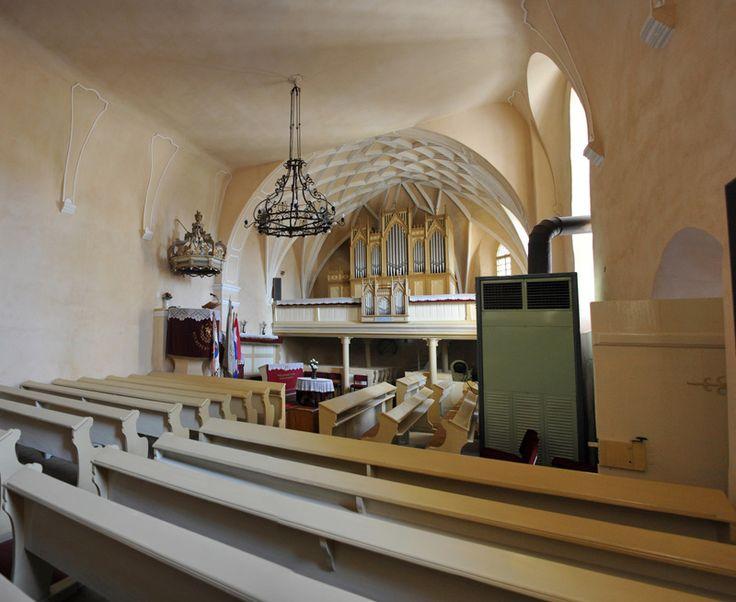Biserica fortificată (sec. XIV-XIX) - interior, strada Cetăţii 1, Sfântu Gheorghe/Sepsiszentgyörgy, stil gotic târziu