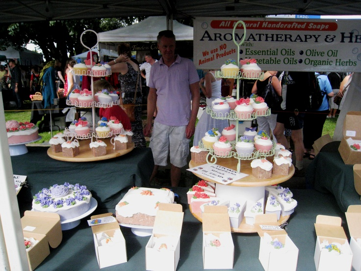 Forgiven for thinking those are edible. Soap! Stall at the Martinborough Fair 2011