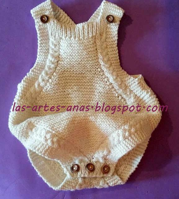LOVE ~~ baby romper ~~ Detailed step by step photos and word instruction in Spanish ~~~ Las artes-anas
