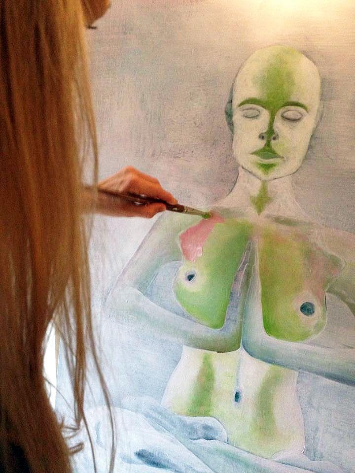 Kejserindens klæder · maleri i gang...