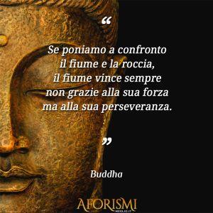 """""""Se poniamo a confronto il fiume e la roccia, il fiume vince sempre non grazie alla sua forza ma alla sua perseveranza."""" (Buddha) #counselor #riflettere #crescitapersonale #counseling #migliorarsi #ilmegliodite #credercisempre #credenzelimitanti #buddha"""