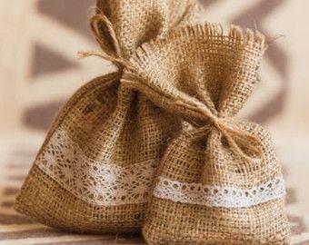 Bolsa, bolsas de jabón, ekobags de regalo 20 Favor de la boda de arpillera, Wedding Favor empaqueta, bolso de arpillera Favor, rústico