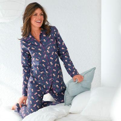 Pyjama met poezenprint - flanel Blancheporte.be €32.99 Eender welke pyjama met lange mouwen en lange benen is goed