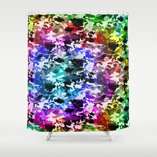 Camouflage with Fish Shower Curtain by Eduardo Doreni | Camouflage ...