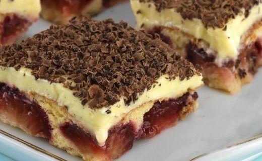 Švestkové kostky s vanilkovým krémem - Recepty na každý den