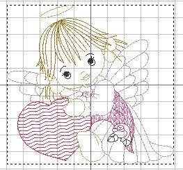Matrizes grátis Anjo coração