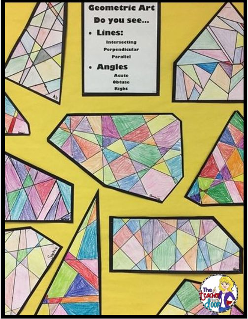 Lots of great ideas for adding art to the classroom! Math and art are a great fit!