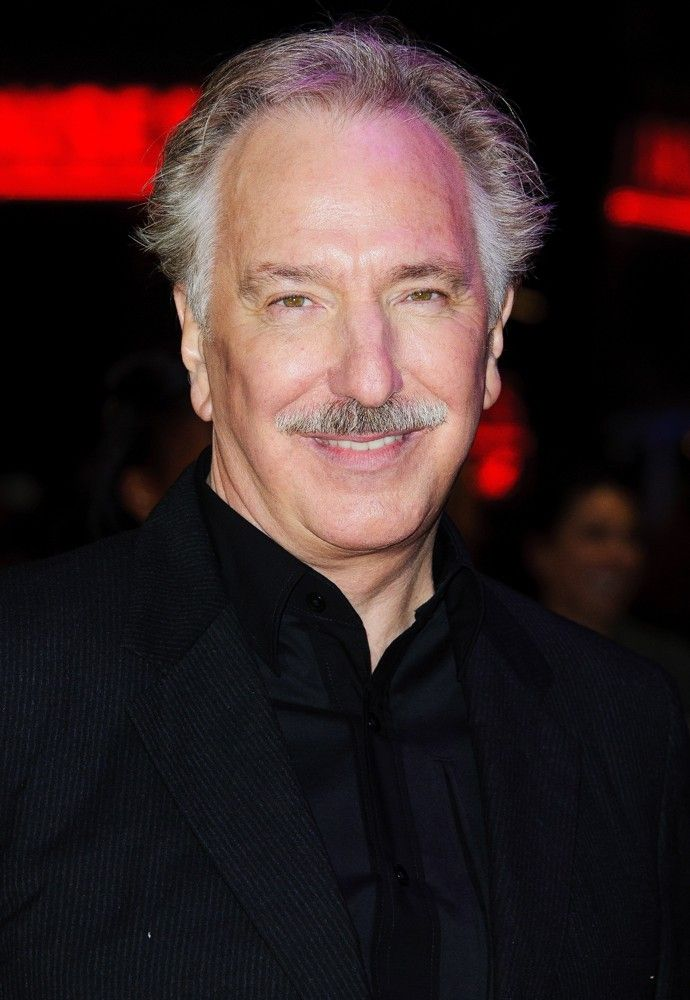 Alan Rickman (Snape) - Now (Hmmm…not a fan of the mustache, which is odd since I like fuzzy faces.)