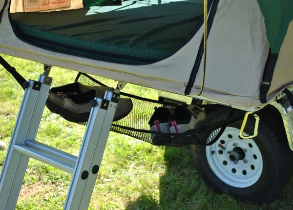 Roof Top Tent Shoe Hammock A Great Way To Keep Dirty