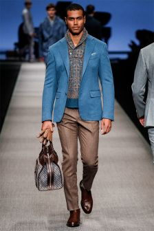 The new Canali men is a highly versatile man, who easily balances bold prints and neutral colors. He wears versatile outfits that make him ready for the next great thing.  More on Milan Fashion Week FW 2014 Menswear collections: http://attireclub.org/2014/01/29/milan-fashion-week/