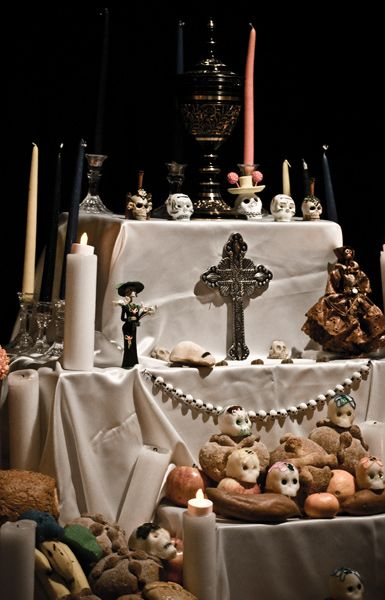 """day of the dead...one of the """"shrines"""". You put things on it that your loved one liked when he was alive."""