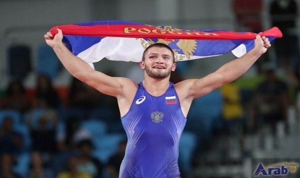Results of men's Greco-Roman 130kg wrestling final…
