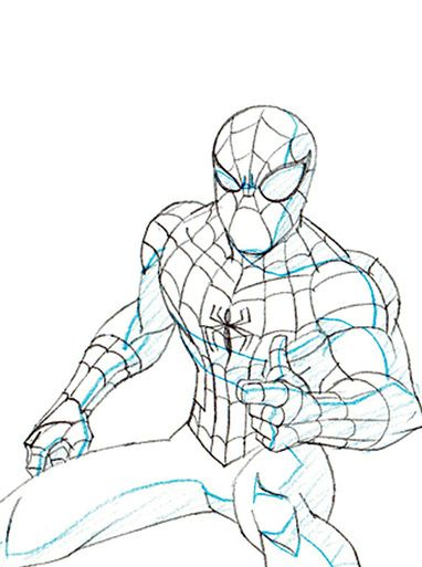 Ultimate Spider-Man Original Marvel Animation Art (Keyframe A17)