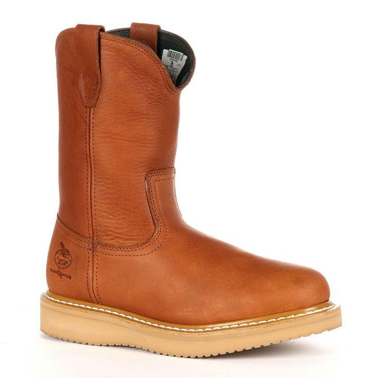 Georgia Boot Farm & Ranch Men's 10-in. Wellington Work Boots, Size: medium (10.5), Brown