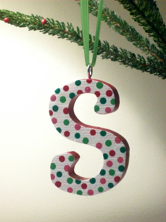 Initial Christmas Ornaments From Posh Dots On Etsy