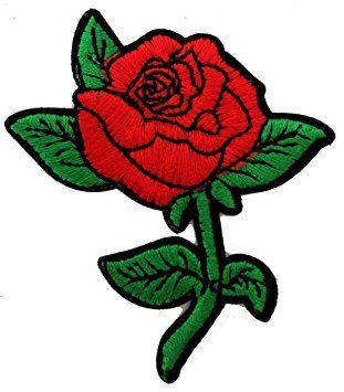 Rosas hermosas rosas hermosas Patch '6.8 x 7.8 cm' - Parche Parches Termoadhesivos Parche Bordado Parches Bordados Parches Para La Ropa Parches La Ropa Termoadhesivo Apliques Iron on Patch Iron-On Apliques