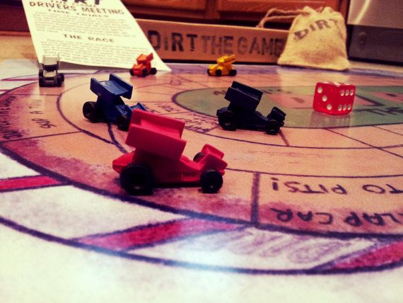 A sprint car racing board game. by DirtTheGame on Etsy, $24.99
