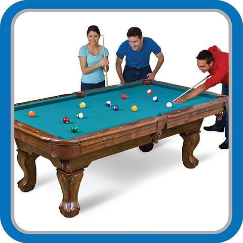 The EastPoint Sports® 7ft 3in (87in) Brighton™ Billiard Table is the ultimate addition to any family game room, rec room, man cave, basement or garage.