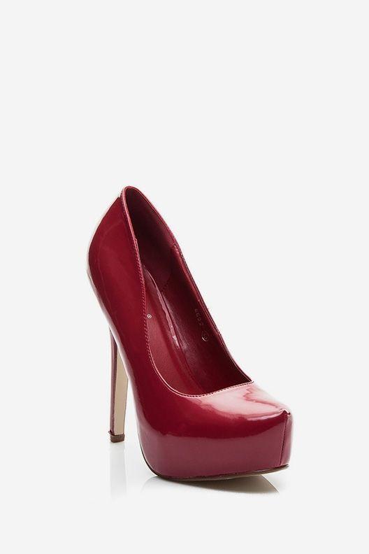 Buty na platformie Kendra czerwone