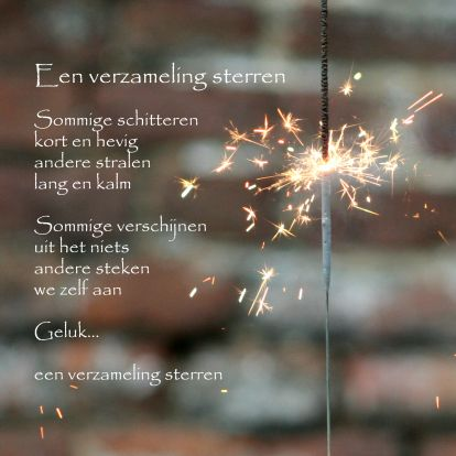 Een verzameling sterren | nieuwjaarsgroet