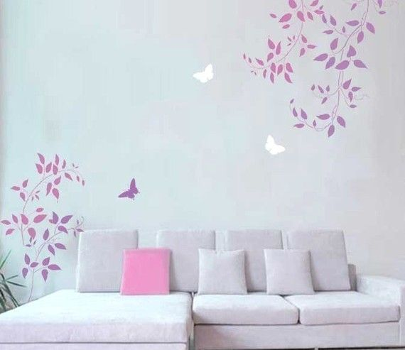 wall stencils clematis vine 3pc kit easy wall decor with