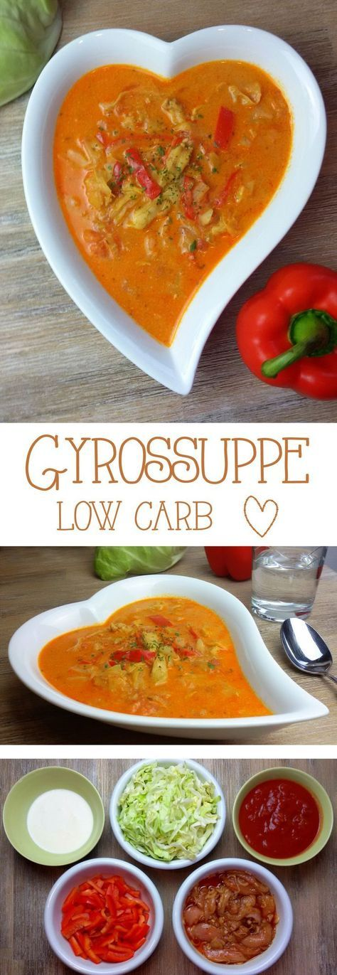 Gyrossuppe low carb Diese leckere Suppe eignet sich auch prima als Partysuppe. Das Rezept ist für 4 Personen und die Suppe ist schon fast ein reichhaltiger Eintopf. Für eine größere Menge könnt ihr…