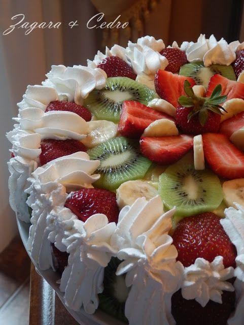 Zagara & Cedro: Torta di Compleanno alla Frutta fresca con crema Pasticcera