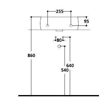 Montage Maße Waschbecken, Sifon, Eckventile